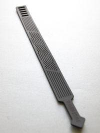 "AB-VANo1-LS Armband ""Vand-No1"" Leder - schwarz - flach"